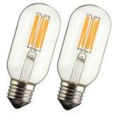 Dimmable T45 E27 E26 8W chauffent la rétro ampoule de lampe légère d'Edison de filament blanc de l'ÉPI DEL AC110V AC220V