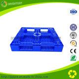 Palete de plástico colorido de grade dupla lateral para rack de armazenamento
