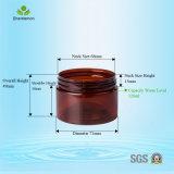120ml alisan el tarro cosmético plástico superficial brillante para la crema facial