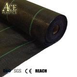 Anti stuoia agricola di plastica UV ecologica del Weed del giardino tessuta pp con la Linea Verde