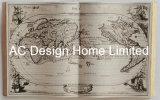 كلاسيكيّة [ليغت كلور] شامل خريطة [بو] [لثر/مدف] خشبيّة كتاب شكل جدار فنية