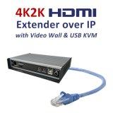 4K2K HDMI/USB extensor KVM sobre IP com Video-Wall