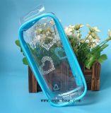 Seul cadre d'EVA de sac de cas biodégradable en plastique de beauté pour l'empaquetage de bouteille de Cosmeitc