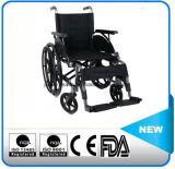 Fauteuil roulant manuel en aluminium de vente d'usine
