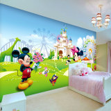 Umweltfreundliche schöne Hauptinnendekoration-bunte Mädchen-Schlafzimmer-Tapete