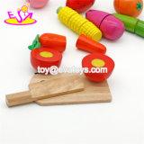 Neue heißeste täuschen Spiel-Küche-Nahrungsmittelhölzernes Ausschnitt-Frucht-Spielzeug für Kinder W10b203 vor
