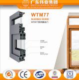 Puerta deslizante esmaltada doble de aluminio del precio de la fábrica de Dali de la prueba afilada del sonido