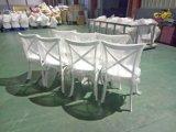 Venda por grosso de volta da cruz de plástico Cadeira de recepção de casamento de catering para bicicleta