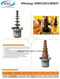 Fontana commerciale del cioccolato delle 7 file con acciaio inossidabile 304