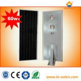 5W-120W tutto in un indicatore luminoso di via Integrated solare della lampada di via LED con 3 anni di garanzia