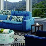 ホーム家具のための青く簡単な様式のコーナーファブリックソファー