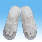Deslizante não descartável Coral Fleece Indoor Hotel Amenity Slipper EVA Slippers