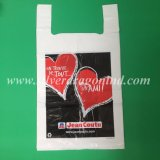 Sacchetto di acquisto di plastica della maglietta del LDPE