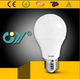 Ângulo largo 8W da luz de bulbo do diodo emissor de luz da tampa transparente A60