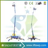 8m 10m Elevadores eléctricos de alta qualidade Hidráulico de Elevação da Lança Rebocados longitudinal simples