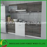 Gabinete de cozinha moderno das portas dos armários do mini projeto da unidade do gabinete de cozinha do revestimento de Wenge