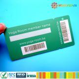 Supermercado lealtad de plástico Etiqueta clave con código de barras para la promoción