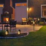 2つの庭のヤードの壁のための充満モードの太陽ダンスの明滅の炎ライトを防水しなさい