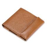 Raccoglitore sottile di prezzi di buona qualità di grano della scheda magica marrone chiaro poco costosa del cuoio con il supporto della moneta