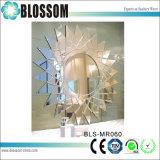 Decoração Arte do espelho de parede em forma da Sun