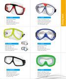 Seguridad de suministro de la fábrica de gafas de natación, buceo máscara (UG-042)