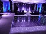 Etapa LED Dance Floor iluminado del club blanco y negro