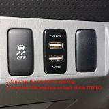 Hochgeschwindigkeitsdoppel-Port USB-Auto-Aufladeeinheit mit Audiokontaktbuchse für Toyota-Serie