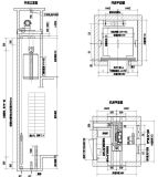 De cabine rangschikt de Deur van de Regelbare, Muur van de Auto en de Landende Lift van de Passagier van het Roestvrij staal van de Deur Hairline