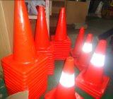 cono usato cono flessibile di sicurezza stradale di traffico del PVC di 90cm