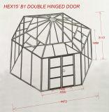 Выбросов парниковых газов с шестигранной головкой, двойной опускного стекла передней двери или навесная дверь, сильнее рамы, большого размера