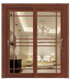El sonido de diseño moderno y el calor de aluminio a prueba de puerta corrediza de vidrio doble