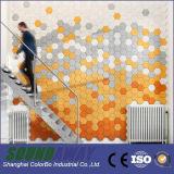 Панели звукоизоляционной стены деревянных шерстей акустической декоративные