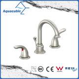 Faucet de água de bronze da bacia do banheiro do furo de Watersense Aquacubic três (AF9280-6)