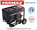 Yarmax faible bruit de moteur diesel refroidi par air bon marché à châssis ouvert Groupe électrogène de groupe électrogène diesel Ym9500EB-J