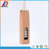 Contenitore di regalo d'apertura del vino della bottiglia del cartone ondulato della finestra singolo con la maniglia