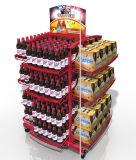 Grand plancher métallique boire de l'affichage permanent pour le supermarché de rack