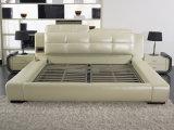 Shunde-Möbel-modernes gepolstertes ledernes weiches Doppelbett mit Rahmen
