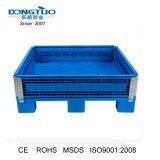 1200x1200x200mm Caixa dobrável de paletes plásticos, taipais de paletes de plástico, plástico dobrável e recipiente.