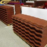 Nouveau projet de construction publique Al-Zn pierre colorée Tuile de métal