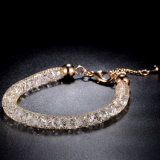 Braccialetto nuziale di cristallo del braccialetto dei monili dell'oro di modo di alta qualità