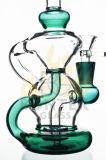 Tubulação de água de fumo do vidro verde da plataforma petrolífera do reciclador da alta qualidade