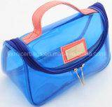 Promotion de la mode de haute qualité de couleur transparente en PVC Vinyl de Voyage Sac cosmétique