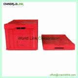 La seguridad de almacenamiento apilables cajas plegables de plástico con tapa