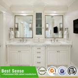 Gabinete de banheiro de madeira do projeto novo luxuoso