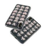 Iphonexのための低下の接着剤のきらめきTPUの携帯電話の箱