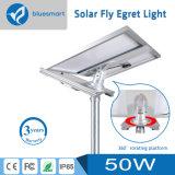 50W調節可能な太陽電池パネルが付いている太陽動力を与えられたLEDの街灯