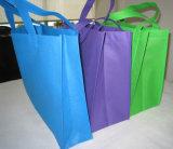 Bolso de compras no tejido barato del plegamiento con la maneta