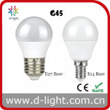 G45 E14 E27 Mini Golf Round Plastic Aluminum Epistar SMD2835 270 Degree 6W LED Globe Bulb