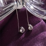 Aretes de gota de agua cristalina de la moda para mujeres boda