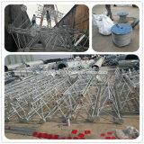 De ronde Toren van de Antenne van de Telecommunicatie van de Mast van Trianglar Guyed van het Rooster van het Staal